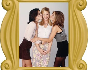 FRIENDS Frame Wall Decal, Friends TV Show, Friends Gifts, Frame with Photo #2, Monica, Pheobe, Rachel