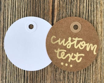 Set of 6 Custom Gift Tags - Kraft Gift Tag - Wedding Favor Tag - Watercolor Tag - Birthday Gift Tag - Gift Wrapping - Party Favor Tag