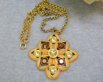 Vintage signed Sarah  Conventry  Starburst Pendant  1970's