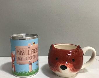 Clever Fox Mug and Hot Chocolate Gift Set