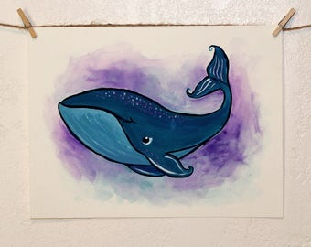 Happy Whale // Original Painting