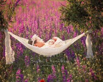 digital backdrop background newborn baby girl toddler  swing purple field