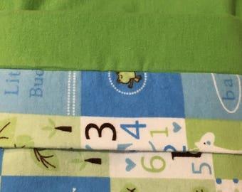 Receiving Blanket - Double Flannel Blanket - Stroller Blanket - Flannel Baby Blanket - Tummy Time Mat - Infant Blanket - Baby Shower Gift
