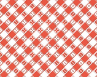 Riley Blake Glamper Picnic Cotton Quilting Fabric  red