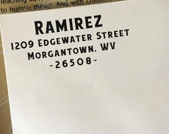 Address Stamp, Custom Return Address Stamp, Self-Inking Stamp, Wooden Stamp, Personalized Address Stamp, Business or Family Address Stamp