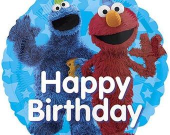 Cookie Monster Birthday Balloons, Sesame Street Party Balloons, Elmo Birthday Decorations, Cookie Monster Foil Mylar Balloons