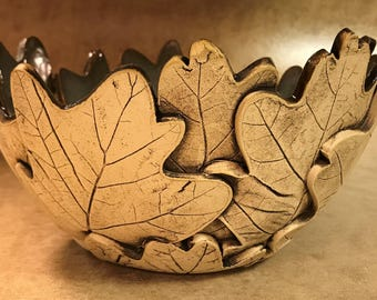 Large Oak Leaf Bowl 139