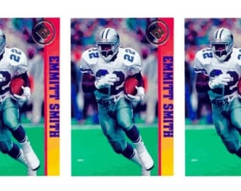 5 - 1993 Ballstreet Emmitt Smith Version 2 Football Card Lot Dallas Cowboys
