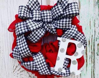 Alabama Wreath, Alabama Crimson Wreath, Alabama Football Wreath Roll Tide, Alabama Crimson Tide, Alabama Crimson Tide Door Hanger, Alabama