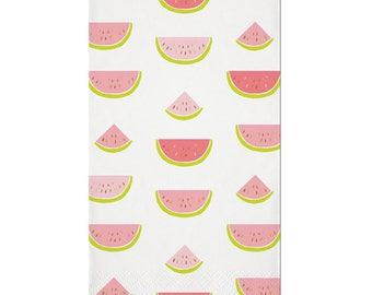 Watermelon Napkins, Watermelon Party, Party Napkins, Summer Party, Hello Summer Party, Summer Napkins, Summer Watermelon, Foil Guest Towels