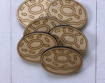 Donut, Minis, laser cut, laser engraved