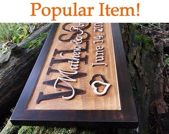 Personalized wedding gift for couple Bridal shower gift Rustic wedding decor sign Engagement gift Personalized wedding sign Custom wood sign