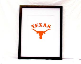 University of Texas Longhorns Wall Art UT Longhorn Printable Graduation Gift College Student Gift Instant Download