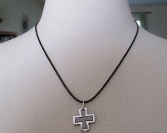"""pendant for men """"cross of Malta"""" 316L steel"""
