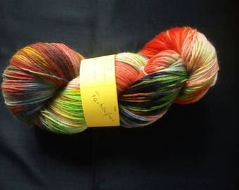 "100 g hand-dyed, 4fädige socks wool ""explosion or colourful"""