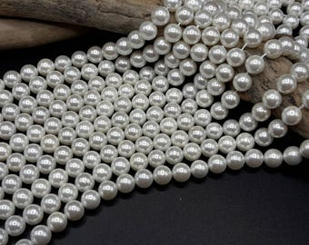 25 pearls 8 mm - Grade A - mother of Pearl 8 mm - excellent quality - A288