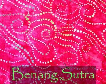 "FREE DOMESTIC POSTAGE 100% Cotton Batik Fabric Handmade & Hand Dyed - Single Fat Quarter  - ""Royal Dots"""