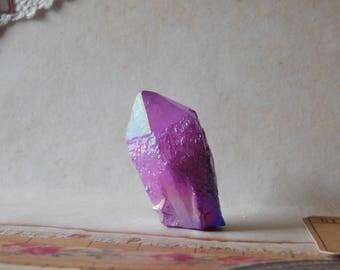 Bright Purple Jelly Aura Quartz