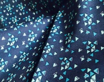 Furoshiki wrapping cloth / Spectrum Triangles Indigo