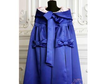 Blue satin cloak Fantasy Medieval cloak Renaissance cloak Hooded cloak Custom cloak