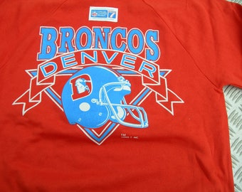 Vintage Denver Broncos  NFL football thin sweatshirt by LOGO7 made in the USA New with sticker