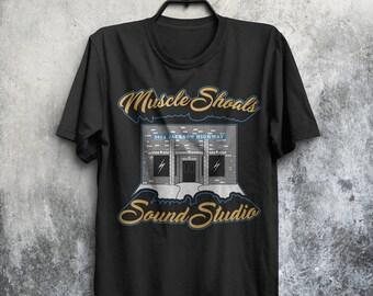 Muscle Shoals Legendary Rock Sound Studios Fame Adults Mens & Women's T-shirt Top Tee Shirt All Sizes Colours