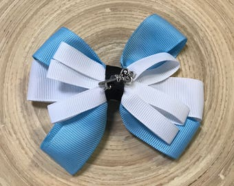 Alice in wonderland inspired bow