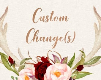 CUSTOM CHANGE(s), Additional changes to the original designs Add On