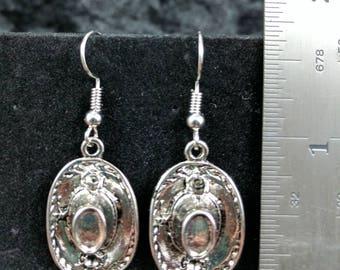 Cowboy hat earrings #275