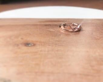 Rose Gold Mountain Range Ring