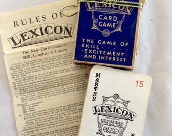Waddingtons - 'Lexicon' Card Game