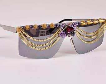 cute-trendy sunglasses-bling sunglasses- chain sunglasses-bridal sunglasses-womens sunglasees-spike sunglasses-swarovski crystal sunglasses