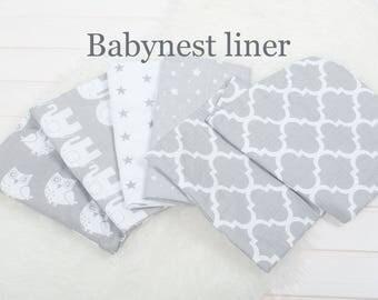 Baby nest protection liner. 30*68cm. Easy washing, longer using. Babynest, pod, coccoon, bedding, bebynest liner, blanket