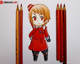 Chibi Romania || Hetalia || ORIGINAL DRAWING