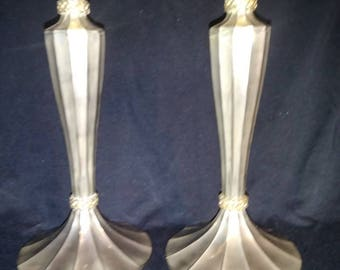Pair of silver candlestick