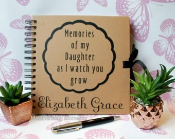 Letters to my / Memories of my / Daughter / Son / Granddaughter/ Grandson / As I Watch You Grow Personalised Decal for Journal or Notebook