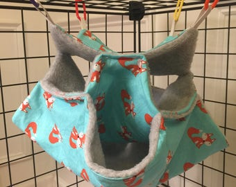 Sugar glider 3 tier hammock (foxes)