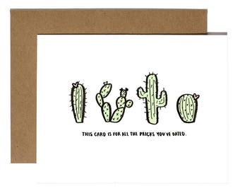 "BREAK-UP CARDS ""Pricks You've Dated Cacti"""