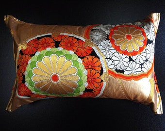 Cushion of Obi (Kimono) Japanese Silk  0000101