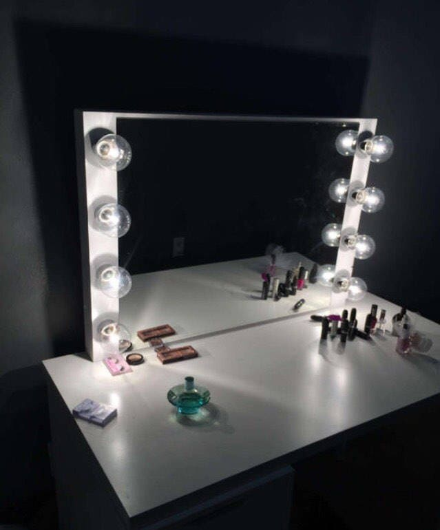 Hollywood Vanity Mirror Perfect For Ikea VanityBulbs Not