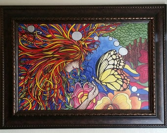 "Original Mixed Media Painting 24"" x 36"" inches Title: Mother Earth"