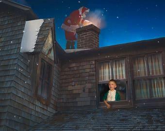 Santa's on the Rooftop digital overlay
