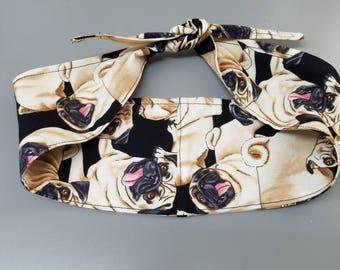 Pin - up - rockabilly  - Retro  - vintage  - pug - pugs - daschund - doxie - Rosie - riveter  - style -  hair tie