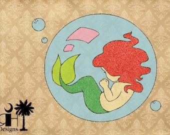 Mermaid Bubble SVG