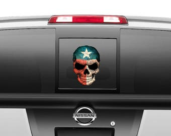 Skull Texas Flag Decal different sizes