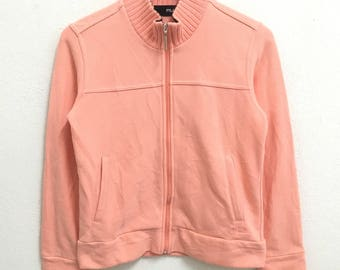 RARE!!! Fila Small Logo Peach Colour Zipper Sweaters Hip Hop Swag M (Ladies) Size