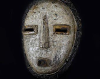 African Initiation Mask / Kumu Tribe /  D.R Congo