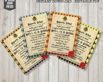 hogwarts set invitation harry potter birthday harry potter party invitations harry potter invites - Harry Potter Party Invitations
