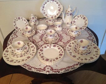 Royal Albert sweet violets tea and part dinner set