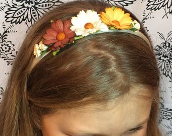 Bronze copper hair band, childrens alice band, flower girl hair accessories, wedding, bridesmaid, bridal hair piece